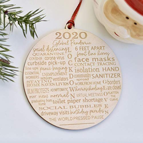 Pandemic Christmas Ornament 2020 –Quarantine Tree Decoration - The year of the toilet paper shortage
