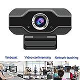 BREEZE Cámara Web 1080P Full HD con Micrófono - Computadora Portátil PC Webcam de Escritorio USB Webcam para videollamadas, Estudios, conferencias, grabación, Juegos con Clip Giratorio
