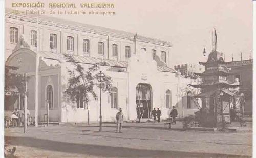 Antigua Postal - Old Postcard : EXPOSICIÓN REGIONAL VALENCIANA - Pabellón de la Industria Abaniquera