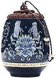 FMOGQ Urna de cremación de recuerdo de cenizas para acuario, pequeño recuerdo, mini cerámica compartiendo urna funeraria personal para mascotas o cenizas humanas 9/29