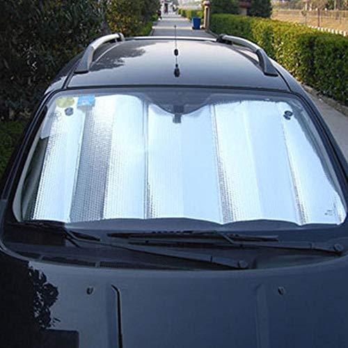 LIMMC 1PC 140 * 70cm Terug Voorkant Achterste Auto Voorruit Zonnescherm Raam Zonnekap Visor Film Voor Auto Raam Auto Accessoires 130x60