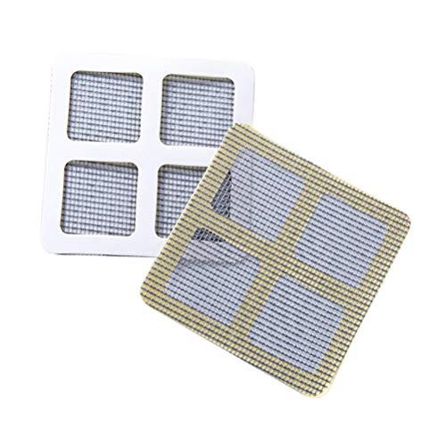 Calayu Fliegengitter, Bildschirm Tür Reparatur Aufkleber Insektenschutz Bildschirm 10x10cm Fliegenschutz Netzwerk Fenster Bildschirme Reparatur Anti-Moskito-Netz 3 Stück