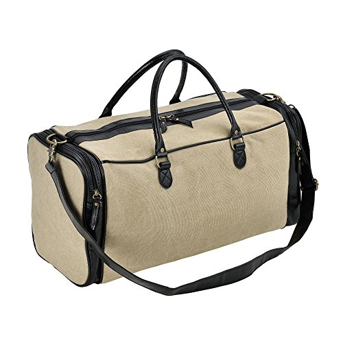 Corium Canvas sporttas - reistas - 30 liter - beige en zwart