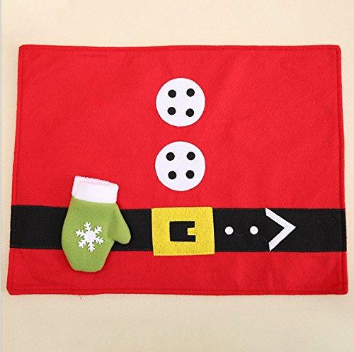 Cunguang 4PC! Natale, posate coltello e forchetta, cuscino, la vigilia di Natale, Hotel, Ristorante, Decorazione Home
