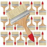 Pennelli Piatti per Pittura Professionali, Set 24Pcs 12,7cm Pennello Pittura per Muri Mult...