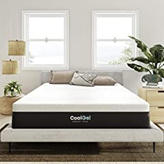 "60"" W x 80"" L x 12"" H The latest in sleep technology, cool gel memory foam layer for temperature regulation with layers of ventilated egg crate foam for breathability layered on high-density base foam for maximum comfort and support Beautifully detai..."
