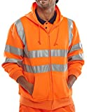 B Seen Hooded Sweatshirt Hi-Vis Orange - Large