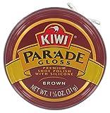 Kiwi 10313 1-1/8 Oz Brown Gloss Premium Shoe Polish With Silicone, 1.125 Ounce