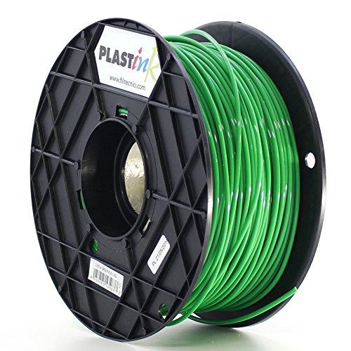 Plastink PLA300GR1 Filamento per Stampante 3D in PLA, Diametro 3 mm, Verde