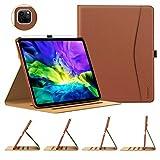TiMOVO Hülle Kompatibel mit iPad Pro 11' 2020, Notebook-Stil PU Leder Schutzhülle mit Zwischenschicht, Multi-Winkel Verstellbar Ständer und Auto Schlaf/Aufwach Hülle für iPad Pro 11' 2020 - Braun
