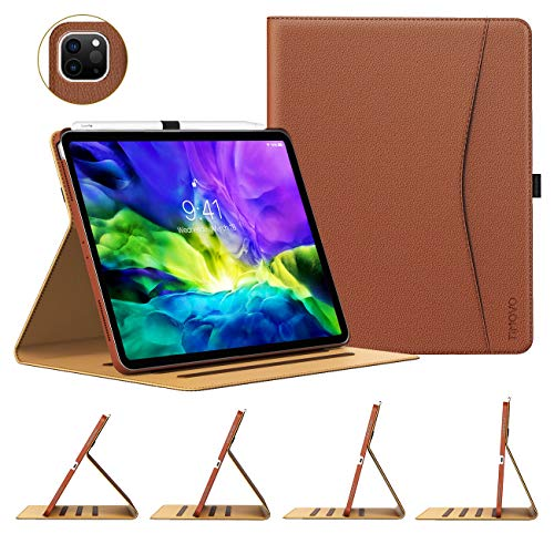 "Premium PU Leather Slim Multiple Viewing Angles Folding Stand Folio Cover with Auto Wake//Sleep for Apple 11/"" iPad Pro 2018-Black FuriGer 11inch iPad Pro Book Cover"