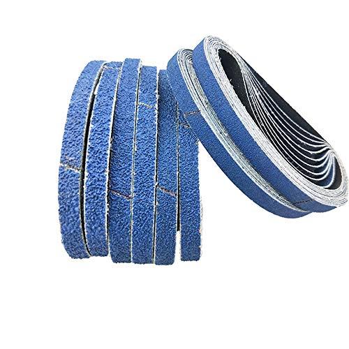 Cinturones de lijado,13 x 457 mm, 5x60/80/100/120/240/320 arena gruesa, para paño abrasivo de metales pesados Black & Decker Powerfeile-Y, un juego de 30 bandas abrasivas