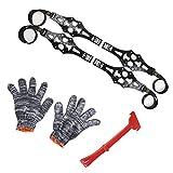 Per Cadenas Antideslizante de Nieve y Arena para Neumáticos de Coche y Moto Cadenas Universal de Emergencia (Negro)