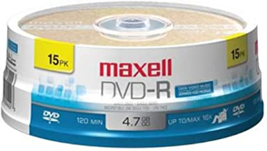 Maxell 638006 DVD-R 4.7 Gb Spindle with 2 Hour Recording Time and Superior Recording..