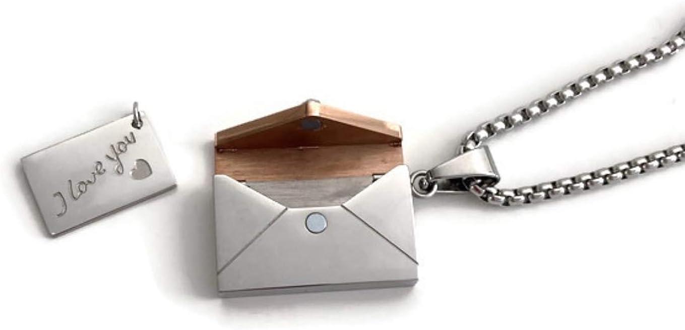 Stainless Steel Love Letter Envelope Locket Necklace