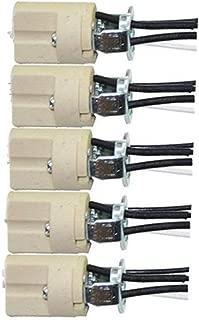 5Pcs G9 Base Bulb Socket Ceramic Lamp Holder Halogen Beads With Wire Stand LED Aging Test Lamp Bracket