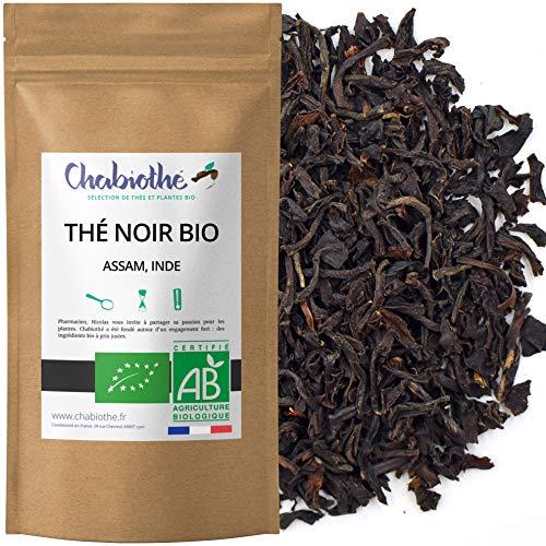 Chabiothé - Thé noir Assam Bio 200g - conditionné en France - sachet biodégradable