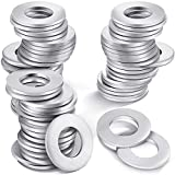 100 Pieces Stainless Steel Flat Washer, Round Metal Gasket, Stamping Blanks, Screw Fastener Kit, Standard Hardware Tools for Washing Machine Hole