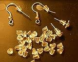 MERSUII(R) 100 Stücke lichtdurchl?ssigem Gummi Ohrring Verschlüsse Verschluss Weder im 4 Millimeter x6mm~Jewelry Stopper