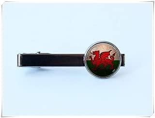 welsh dragon tie clip