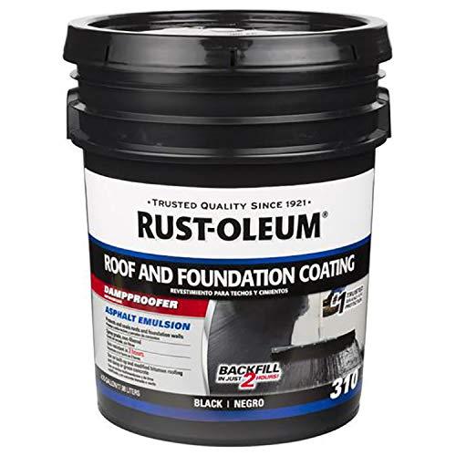 Rust-Oleum Foundations Wall Damp/Waterproof Roof Coating Paint (18 L, Black)