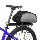 Lixada Bolsa Trasera para Bicicleta Multifuncional Bolsa de Asiento Trasero Bolsa de Hombro para Ciclismo al Aire Libre 13L Negro
