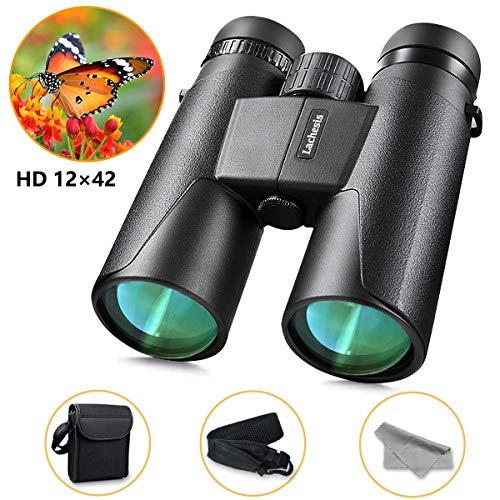 Upworld 12X42 Binocolo Professionale, Binocolo Compatto per Adulti - Potente binocolo impermeabile professionale HD per gli uccelli che guardano i...
