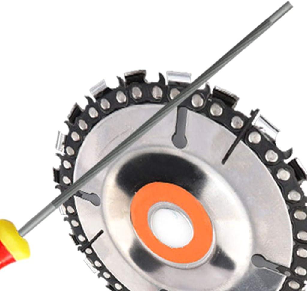 4,0 mm ZZALLL3 St/ück runde Hochkohlenstoffstahl-Sch/ärfkettens/äge S/ägekettenfeilen Sch/ärfer