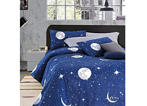 Completo Lenzuola Per Letto Singolo 1 Piazza, In Fantasia Planetario Luna