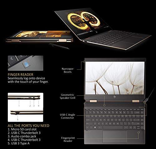 Product Image 7: Newest HP Spectre x360 15t Touch 10th Gen Intel i7-10510U, Pen, 3 Years McAfee Internet Security, Windows 10 Professional Key, 4K IPS, HP Warranty, 2-in-1 Laptop PC (16GB, 512GB GB, Dark Ash)