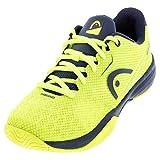 Head Revolt Pro 3.0 Junior Zapatillas de Tenis, Juventud Unisex, Neon Amarillo/Oscuro Azul, 37 EU