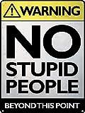 Placa de metal nostálgico vintage con texto en inglés 'No Stupid People', para decoración de pared, arte clásico, regalos creativos, perfectos para colgar 20 x 30 cm