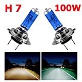 Topmax - Faro per auto CREE H7, LED, 12 V, 100 W, 8500 K, ultra bianco, lampadina allo xeno, 2 pezzi