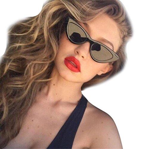 URSING Damen Mode Katzenaugen Sonnenbrille Integriertes UV Cat Eye Sunglasses Damenbrillen Herrenbrillen Frauen Retro Vintage Brille Nachtsichtbrille Eyewear Travel Sonnenbrillen (J)