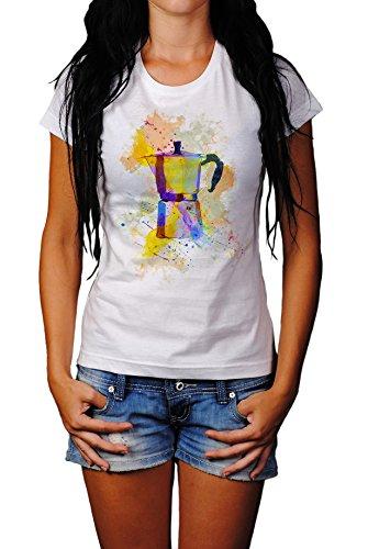 Espressokocher Damen T- Shirt, Stylisch aus Paul Sinus Aquarell Color