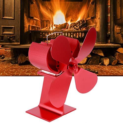 Snufeve6 Ventilador de Calor, Ventilador de Calor para Chimenea, Ventilador de Estufa de Calor para circulación de Calor Quemador de leña/leña Ventilador de quemadores de leña Ventilador de Estufa