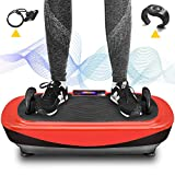 Klosoft Vibrationsgeräte 4D-Vibrationsplattform-Maschine, Vibrationsplatten Maschine, Vibration Fitness Plattform mit Schlaufenbändern, Push-up-Griffe, Heimfitnessgeräte
