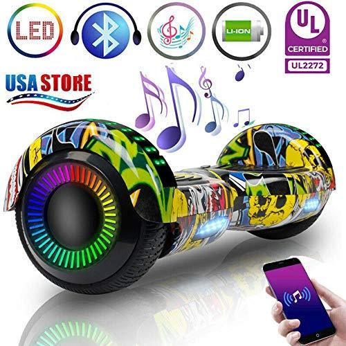 Buy AlvisHa LED Hoverboard Bluetooth Electric Self Balance Scooter NO Bag Priting Graffiti