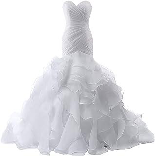 فستان زفاف للعروس حورية البحر الزفاف البوق فستان الزفاف للنساء الكشكشة فساتين الزفاف