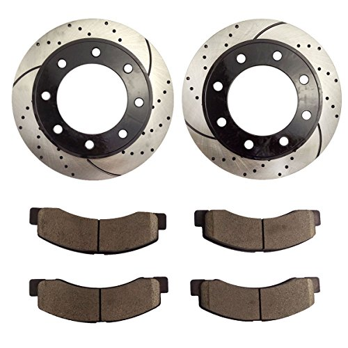Atmansta QPD10040 Front Brake kit with Drilled/Slotted Rotors and Ceramic Brake pads for Ford...