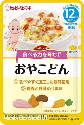 キユーピーベビーフード ハッピーレシピ おやこどん 80g 【12ヵ月頃から】