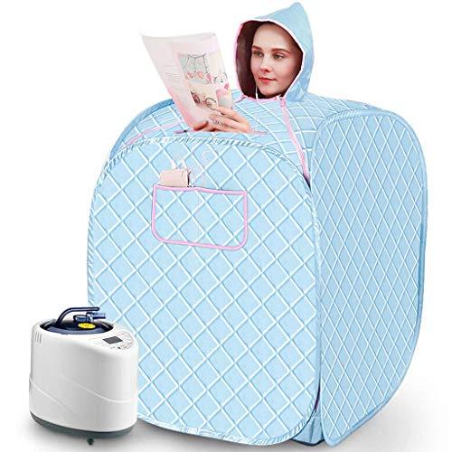 Sauna Heaters Tragbare Dampfsauna - Infrarot-Saunaofen 1000W, 1-9 Gang-Temperatureinstellung Elektronisch gesteuert, mit drahtloser Fernbedienung,Blue