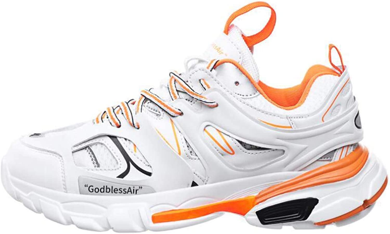 CYY Mens Fitness Air Bubble Sport Walking Laufen Performance Schuhe Leichte Trainer,Orange,48