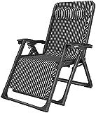 MFLASMF Productos para el hogar Silla reclinable Plegable Jardín al Aire Libre Tumbona Ajustable de Gravedad Cero Sillas reclinables con reposacabezas para Patio Camping Playa Deck