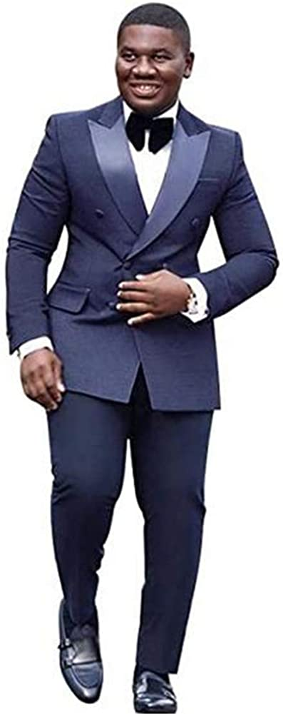 Peak Lapel Wedding Men Suits Prom Grooms Wedding Tuxedo Business Suits