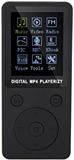 MP4 Music Player, Supports Music, Radio, Recording, Video, e-Book, Built-in Stopwatch, Supports 32GB TF Card with Headphon...