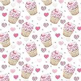 11,99€/m Cupcake Cupcakes Herzen 100% Baumwolle