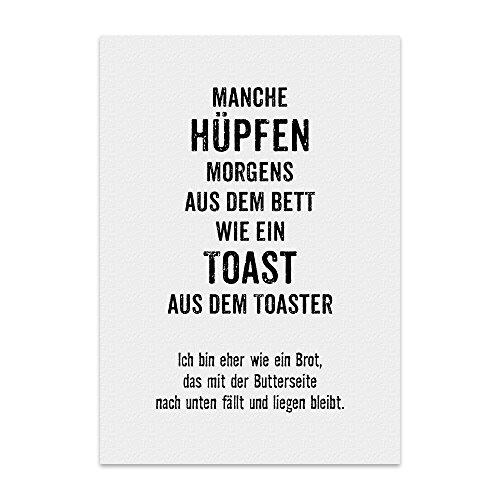 Kunstdruck, Poster mit Spruch – Toast-Brot – lustiges Typografie-Bild auf hochwertigem Karton - Plakat, Druck, Print, Wandbild
