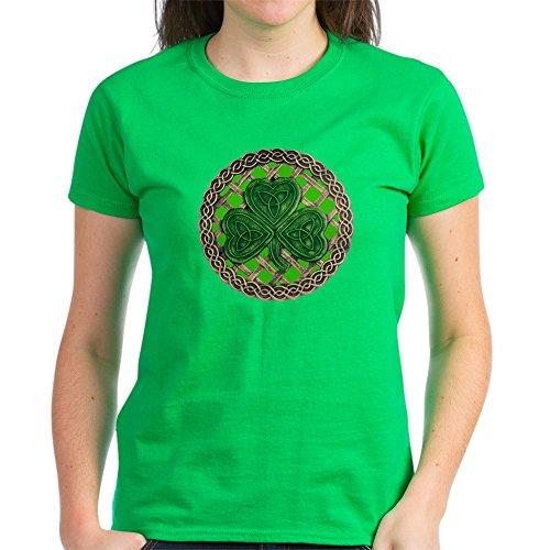 CafePress Shamrock and Celtic Knots T Shirt Womens Cotton T-Shirt
