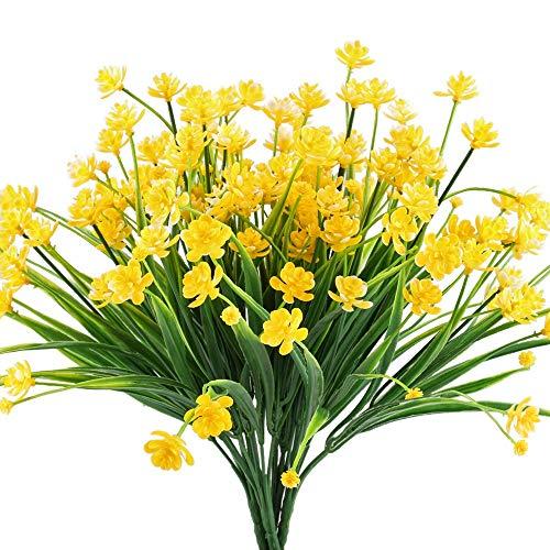 Artificiales narcisos Amarillos Flores arbustos Falsos Plantas de imit